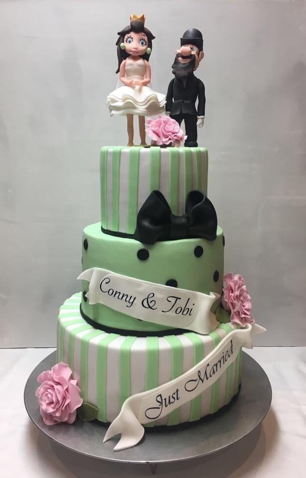Hochzeitstorte Conny & Tobi