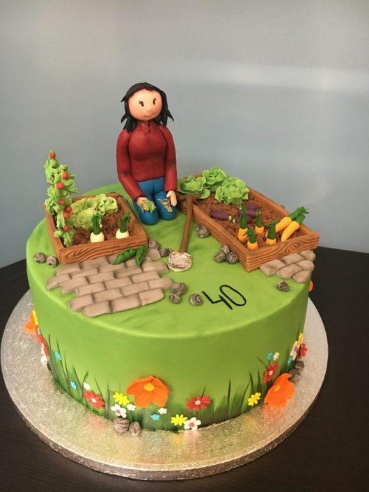 Geburtstagstorte Garten